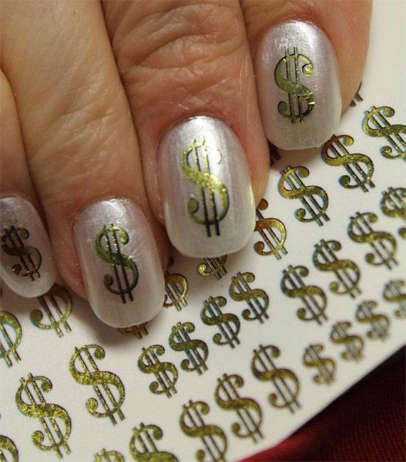 - 38 Gold DOLLAR Signs Nail Art DSG Poker CASINO Money Bling