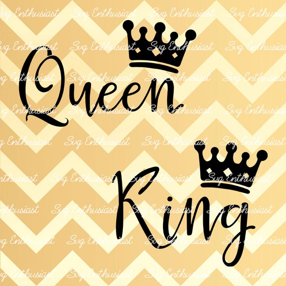King Queen SVG SVG cutting file Cricut Dxf PNG Vinyl