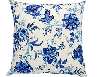 Blue and White Floral Hampton's Style