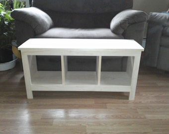 ON SALE Unfinished Bench Custom Furniture Shoe Cubby Cubby Storage Bench  Bench Seat Entertainment Center
