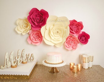 Flower backdrop etsy large medium or small paper flower large paper flower fully assembled paper mightylinksfo Gallery