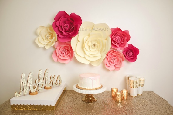 Large medium or small paper flower large paper flower like this item mightylinksfo Choice Image
