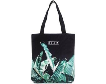 Tropical Tote Bag, Tropical Print, Palm Tree Svg, Palm Tree Print, Canvas Bag, Beach Bag, Palm Tree Svg, Eco Bag, Eco Tote Bag, Screen Print