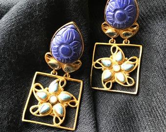 Vintage lapis lazuli earrings