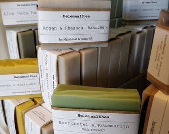 6 Shampoo bars or soaps of your choice / natural solid shampoo bar / soap / hair soap / gift set / bulk / discount / soap for your hair