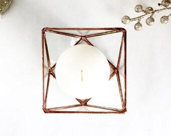 Glass Box, Wedding Gift, Wedding Ring Box, Glass Terrarium, Clear Glass Planter Geometric Box, Candle Holder Votive