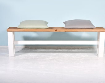 Handmade bench of reclaimed wood STUTTI