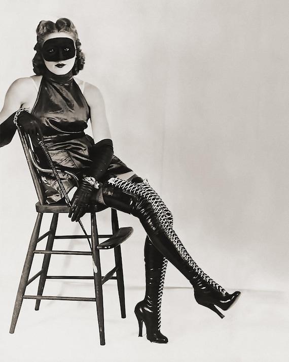 Vintage Photo Dominatrix Bdsm Mistress Sexy Erotic Risque-1101