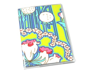 Passport Cover Amy Butler Soul Blossoms Bliss Fuchsia Tree Chartreuse