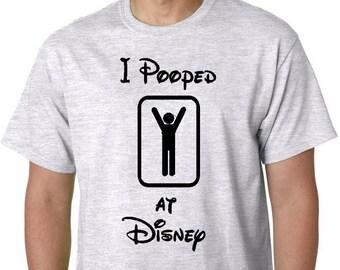 Disney Family Shirts, Funny Disney Shirts, I Pooped AT Disney, Boy or Girl, Custom Personalized Disney Vaction Shirts, Disney Shirts