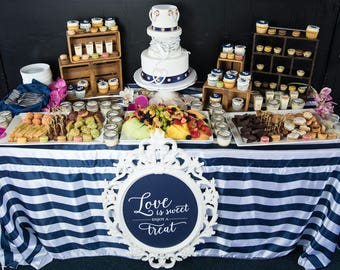 Nautical Navy and White Stripe Tablecloths