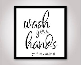 Wash your hands Svg, bathroom sign svg, bathroom decor svg, bathroom svg file, bathroom cut file, bathroom svg, wash your hands svg