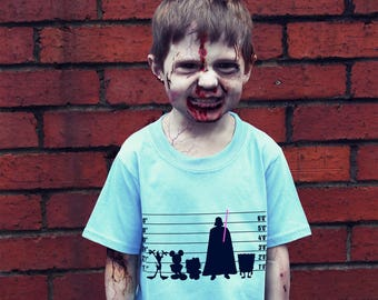 Usual Horror Kids / Youth T-shirt, Alternative, Handmade, hand screen-printed, funny, usual suspects, film, tv, heroes, villains