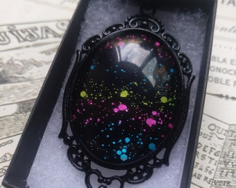 ONLY 1! Rainbow Nebula Gothic Necklace - Black gift box included