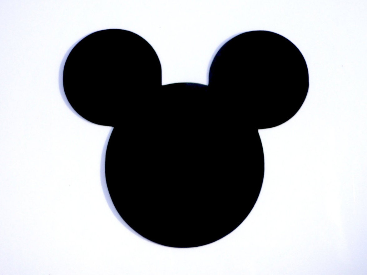 3 mickey mouse head ears die cut disneys mickey mouse