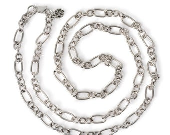 "Large Link Chain 24"" Necklace - Silver"