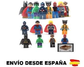 Pack 8 minifigure avengers compatible lego Superheroes