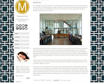 Monogram Blogger Template - Hollywood Regency Blogger Theme - Blogger Blog Template - Pemade Blog Design