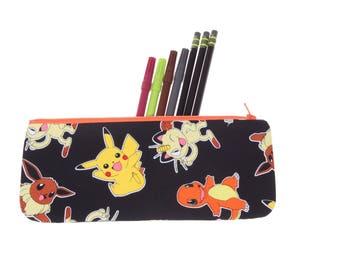 Pokemon pencil case, pencil pouch, Pokemon pencil holder, school supply, stocking stuffer