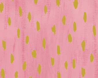 Sunshine Serenade in Pink Metallic by Melissa Ybara for Windham Fabrics