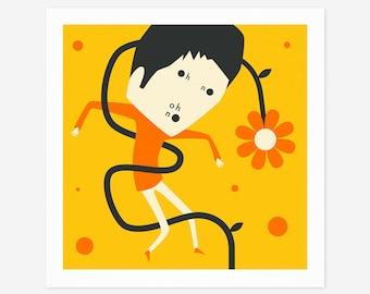 OH NO (3) (Giclée Fine Art Print/Photo Print/Poster Print) Minimal, Retro Pop Art