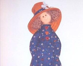 DIY Doll Pattern Rag Doll Child softie plush girl downloadable