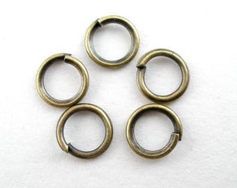 x 100 brass v 5 mm open jump rings