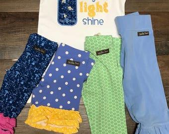 M2M MJ let you light shine applique shirt