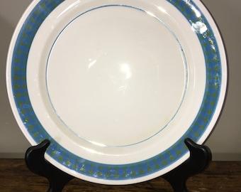 Mikasa Meat Platter Chop Plate/Mikasa Dinner Plates/Mikasa Equinox platter/vintage Mikasa Equinox pattern/Equinox dinner plates