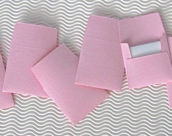 36+ teeny tiny envelope note card sets handmade in Pinkini pink mini miniature square party favors weddings stationery guest book