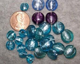 Bright Group Vintage Foil SAUCER Beads