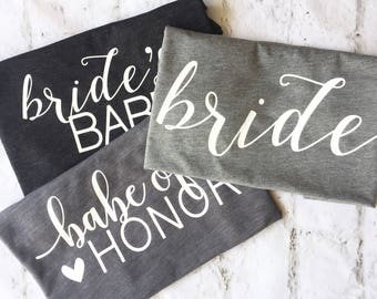 Bridesmaid Shirts, Bachelorette Party Shirts, Bridesmaid Slouch Tank, Brides Babe, Bridal Party Shirts, Bride Shirt, Bachelorette Shirts