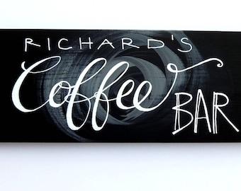 Coffee Bar Sign, Custom Kitchen Sign, Coffee Lover Gift, Fall Decor, Coffee Decor, Wood Coffee Sign, Trending now, Small wood art, Hungaryan