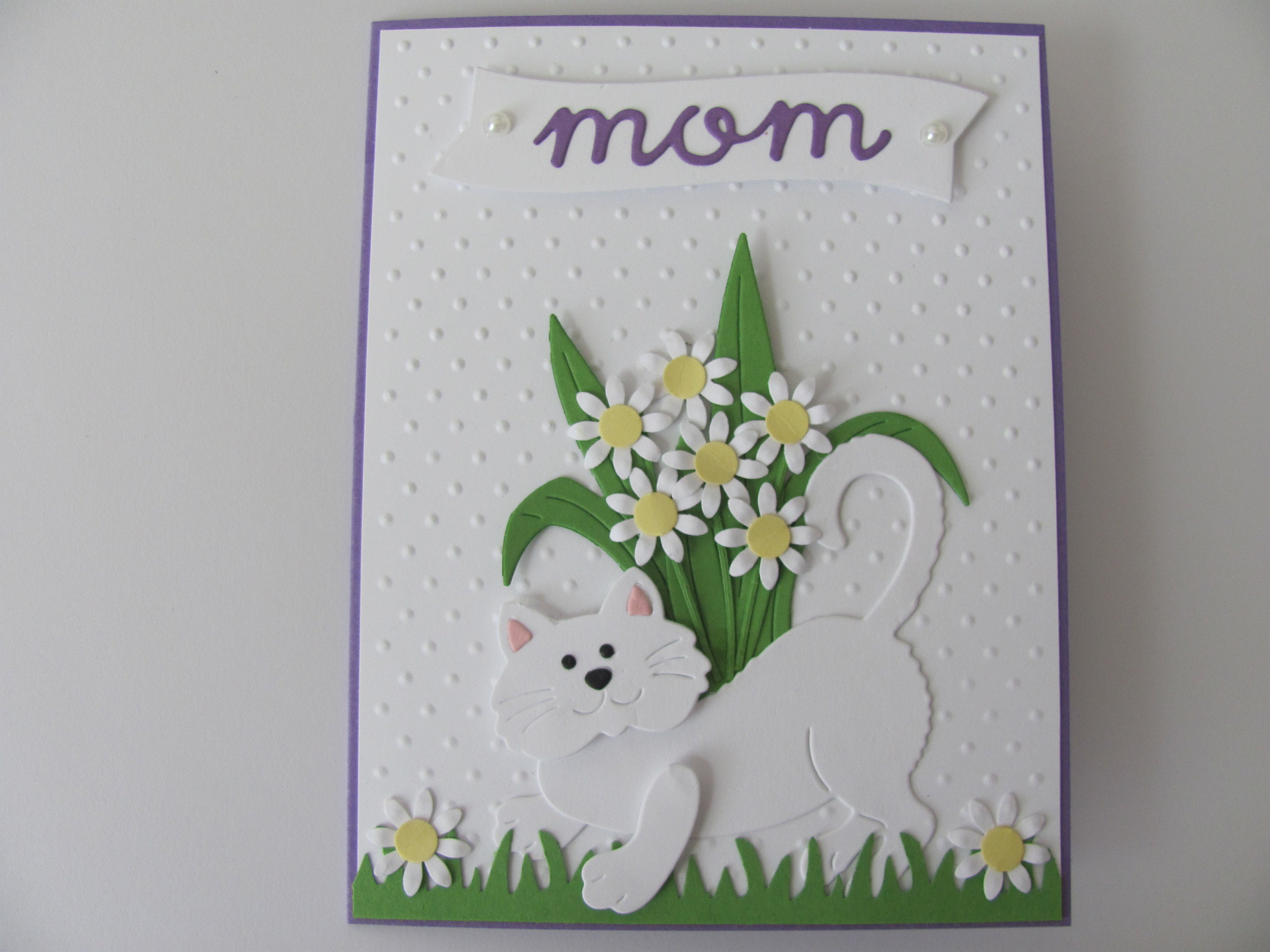 Mothers day handmade cat card cat mom card mothers zoom kristyandbryce Image collections