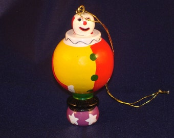 Vintage Avon Clown Ornament Gift Collection Roly Poly Circus