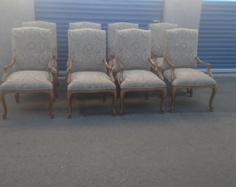 Tuscan style set of 8 dining chairs