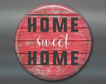 "3.5"" rustic home sweet home sign fridge magnet, rustic wood sign decor, kitchen decor, word art decor housewarming gift MA-SIGN-1"