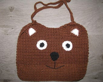 Bear bib crochet