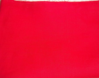 """Red Cotton Twill 4 3/4 Yards x 45"""" Wide"""