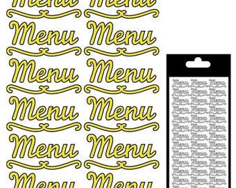 Menu sticker - gold matte - STI10830