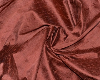 Silk Dupioni in Copper with Black shimmers, Half yard  DEX 232