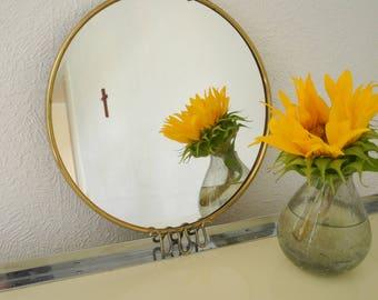 Vintage mirror brass frame