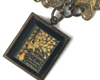 Pride and Prejudice Jane Austen Hidden Book Necklace Tiny Readable Book