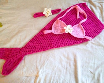 Bébé sirène Costume - tenue de sirène de bébé - bébé sirène Photo Prop - nouveau-né à travers 12 mois - fait sur commande