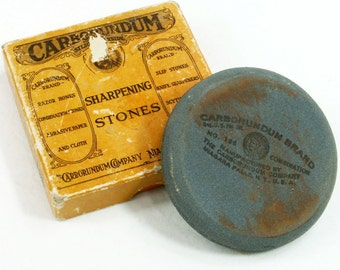 Carborundum Sharpening Stone Round Axe 196 Silicon Carbide Honing Tool