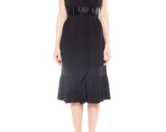 Flirty Vintage Inspired Ruffled Prada Dress Size: 4