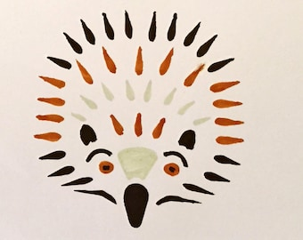 Hedgehog Stencil Ideal for Cardmaking, Children's Play, Pictures or Wall Art.