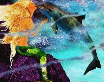 Dolphin Kisses (Mermaid Card Line)
