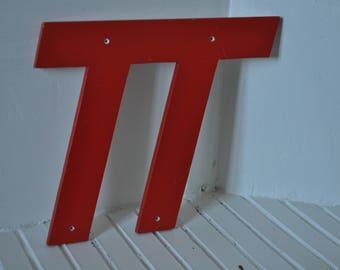 """""""TT"""" vintage sign letter"""