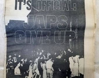 New York Daily News - August 15, 1945 - It's Official JAPS GIVE UP